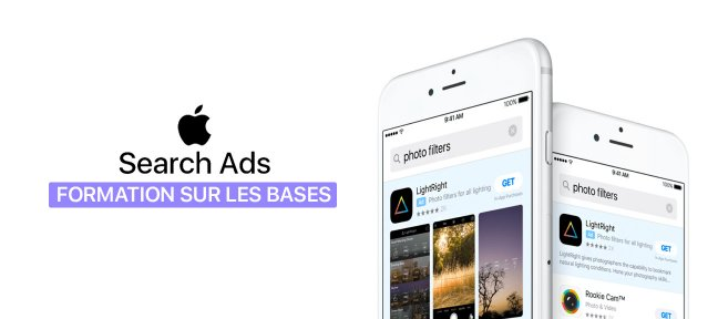 Tuto Apple Search Ads : Découvrir la solution de promotion d'applications iPhone / iPad Marketing Digital