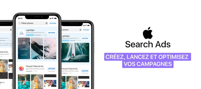 Tuto Apple Search Ads | Créez, lancez et optimisez vos campagnes d'installations applications iPhone et iPad Marketing Digital