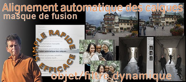 Tuto L'alignement automatique des calques Photoshop