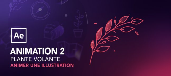 Tuto Animer une illustration avec after effects : Plante volante After Effects