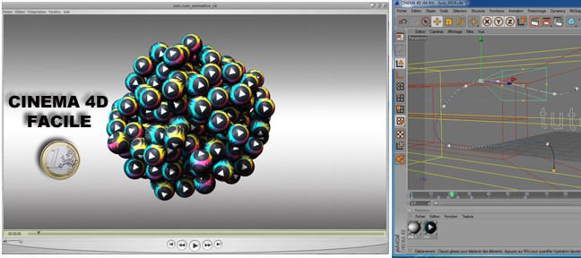Tuto Cinema 4d facile : animation d'un logo Cinema 4D