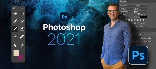 Tuto Photoshop CC 2021 | Initiation | Outils + Ateliers Créas Photoshop