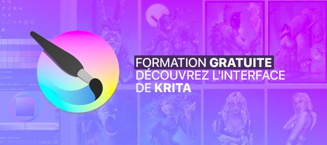 Gratuit Krita : Prendre en main l'interface