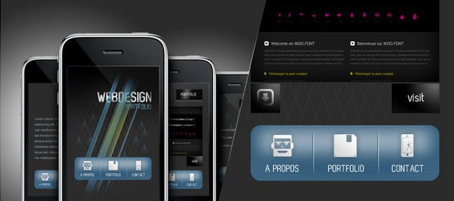 Design de site pour iPhone et Mobile
