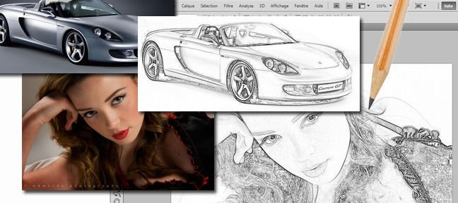 Tuto Dessin à partir de photo Photoshop