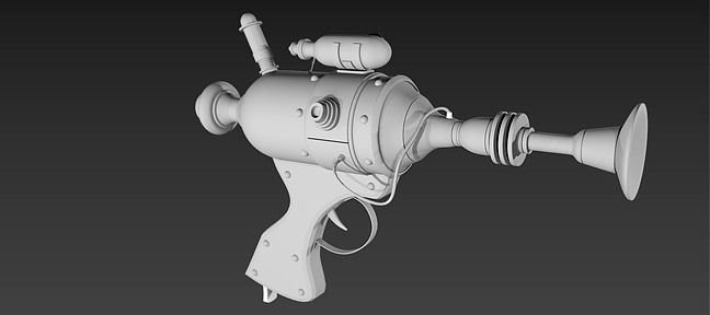 Modéliser une arme cartoon en 3D