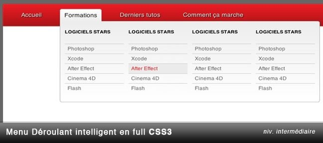Menu déroulant intelligent en full CSS 3