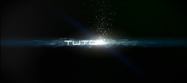 Tuto Appartion d'un titre avec CC Particle World After Effects