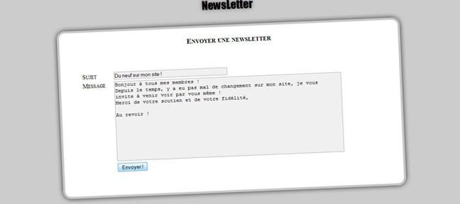 Envoyer un mailing simple via PHP