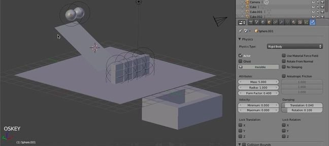 Blender Rigid Body : les bases