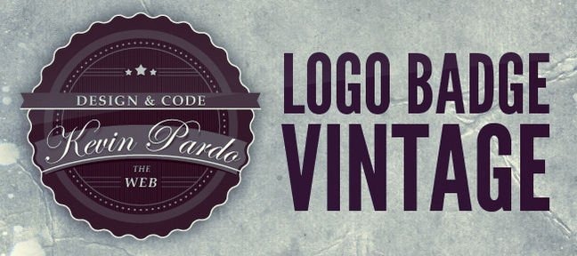 Tuto Logo Badge Vintage Photoshop