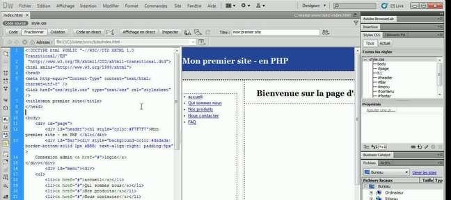 Convertir un simple modèle de pages HTML en PHP