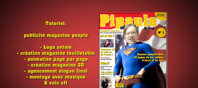 Animer les pages d'un magazine
