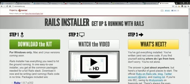 Installer Rails 3 sous Windows avec Railsinstaller