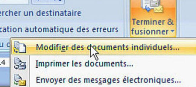 Tuto Différents documents de publipostage Word