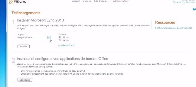 Installer les services collaboratifs d'office 365