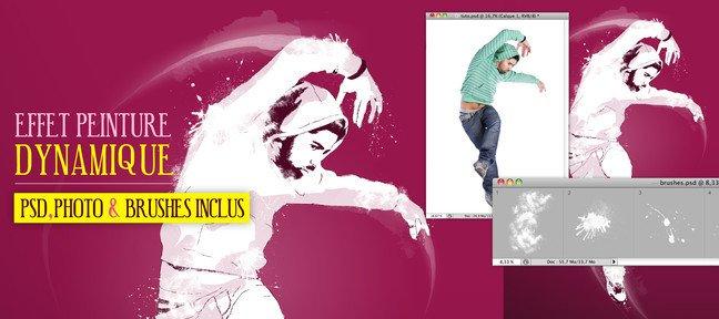 Tuto effet peinture dynamique avec photoshop cs5 sur for Effet miroir photoshop cs5