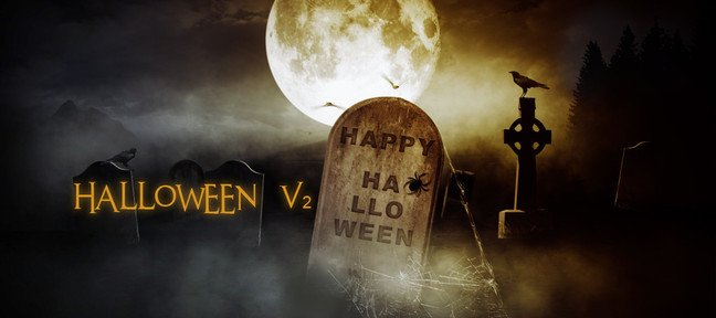 Halloween : compositing Cimetière