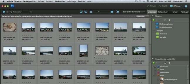 Tuto Créer des piles de photos Photoshop Elements