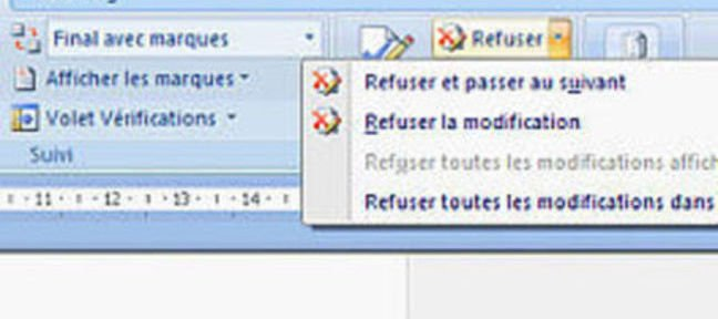 Tuto Acceptation des modifications Word