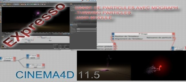 Tuto Animation d un flux de particules avec Sound Effector Cinema 4D