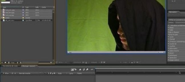 Incrustation fond vert sur after effects