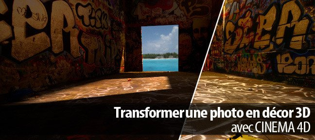 Transformer une photo en décor 3D
