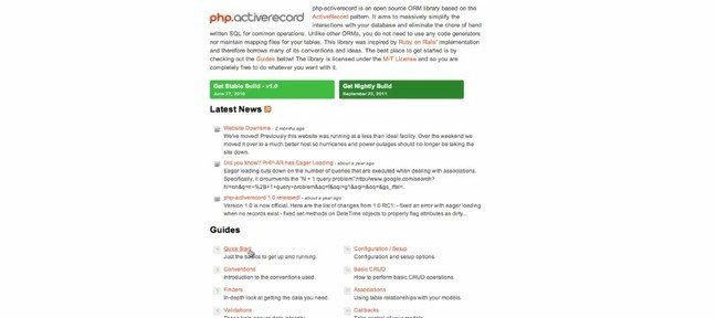 Active Record PHP