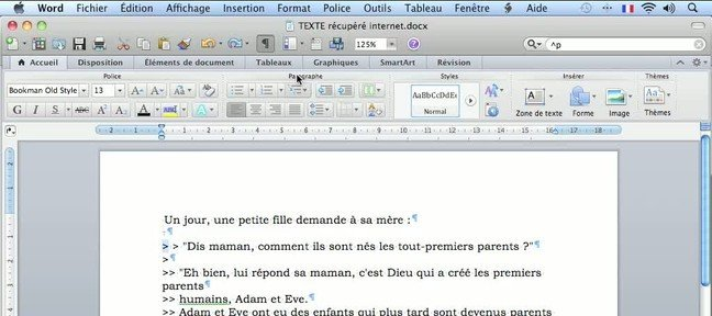 Tuto Nettoyer un document Word
