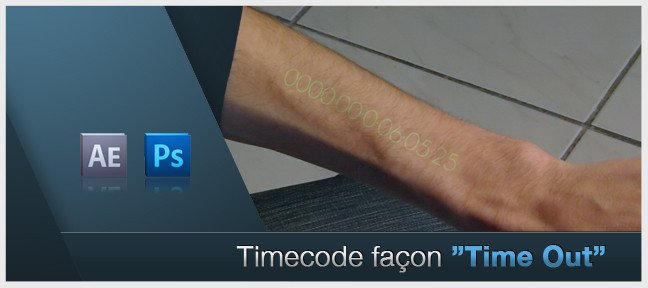 Tuto Timecode façon Time Out After Effects