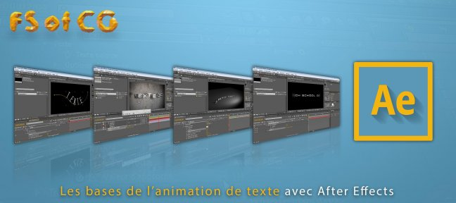 After Effects : Les bases de l'animation de texte