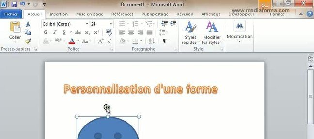 Tuto Personnalisation d'une forme Word
