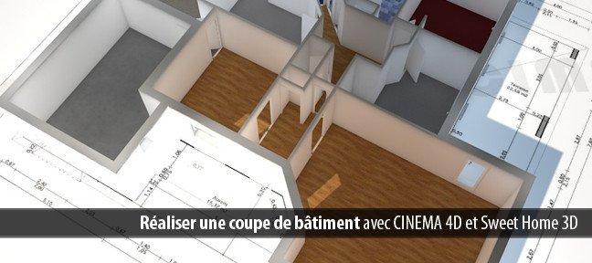 Tuto r aliser une coupe de b timent avec cinema 4d 13 sur for Tuto architecte 3d