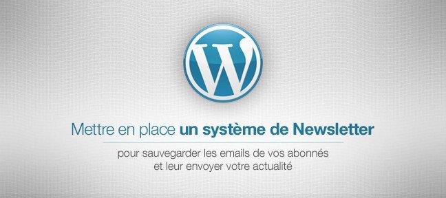tuto mettre en place une newsletter sur un site wordpress