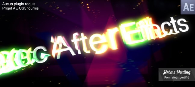 Tuto Effet de prisme sur un titrage After Effects