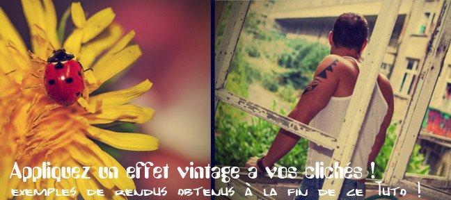 Tuto appliquer un effet vintage une photo avec photoshop for Effet miroir photoshop cs5