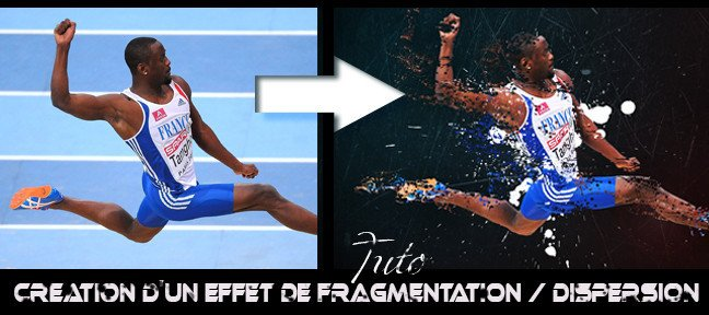 Effet de Fragmention Dispersion sur vos photos
