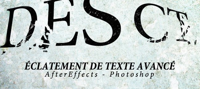 Tuto Eclatement de texte avancé After Effects
