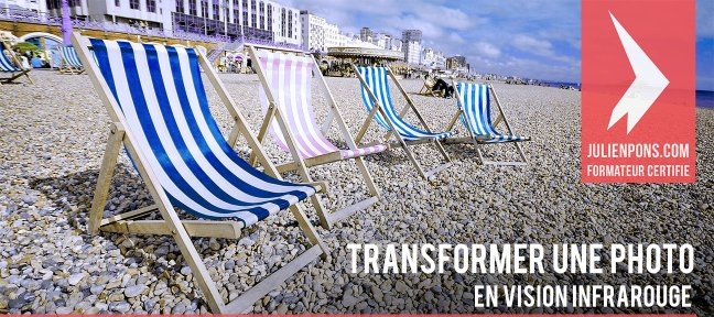 Transformer une photo en couleurs infrarouges