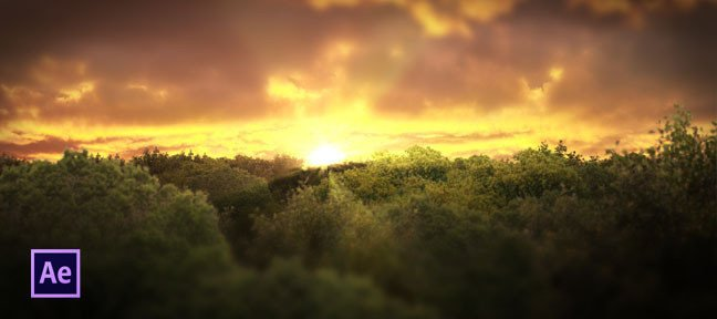 Tuto Compositing levé/couché de soleil et forêt After Effects
