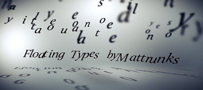 Tuto Lettres Flottantes After Effects