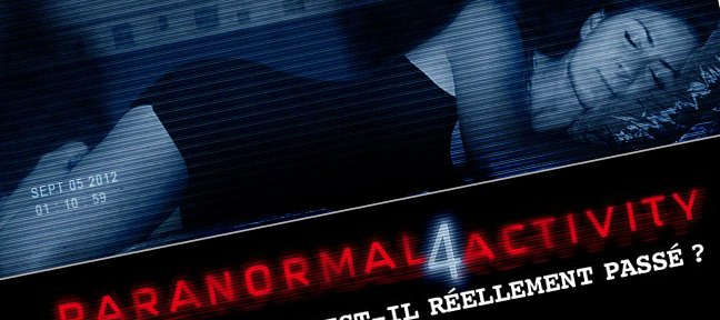 Réalisation de l'affiche du film paranormal activity 4