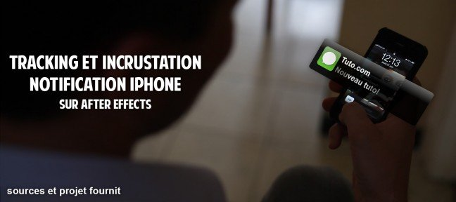 Tracking et incrustation d'une notification iPhone