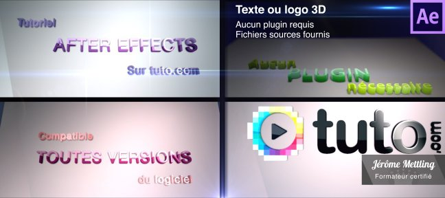 Tuto Texte ou logo 3D sur un panneau pivotant After Effects
