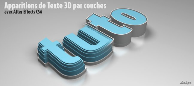 Apparition de texte 3D par couches