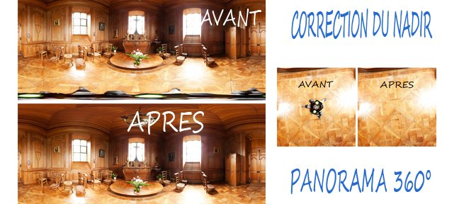 Tuto Visite virtuelle : Effacer le trépied d'un panorama 360° Photo