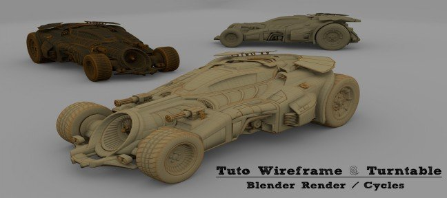 Tuto Rendu Wireframe et turntable - Blender Render et Cycles Blender