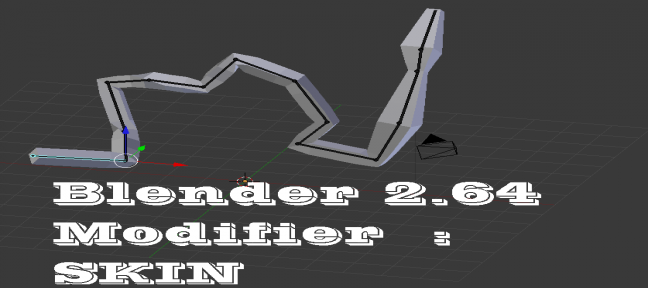 Introduction au modifier Skin sur Blender 2.64