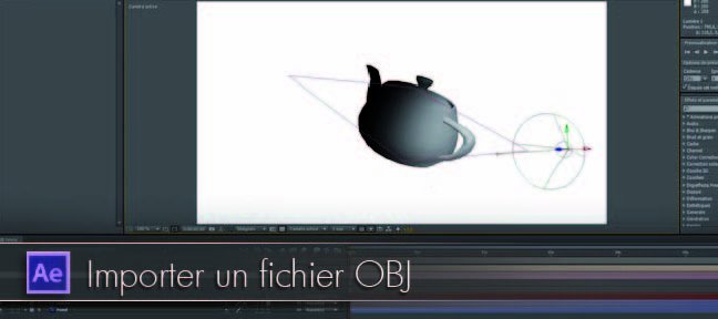 Tuto Importer un fichier obj After Effects