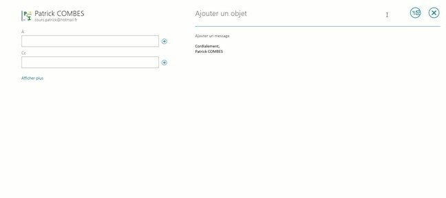 Tuto Mettre en forme un mail dans Windows 8 Windows